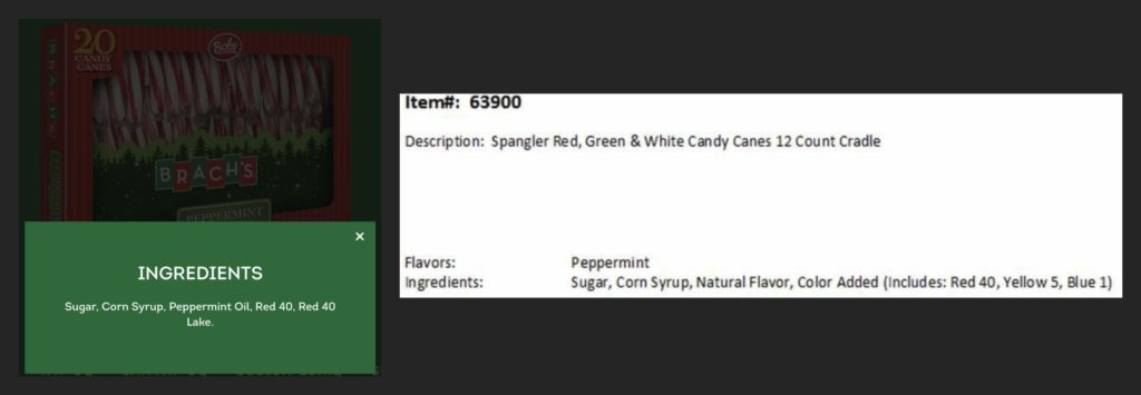 Unhealthy candy cane ingredients